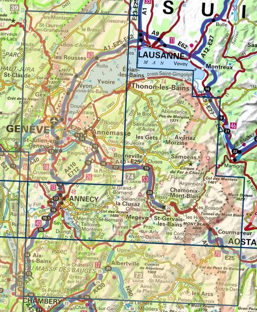 Map Of Yvoire France.Ign 144 Annecy Thonon Les Bains